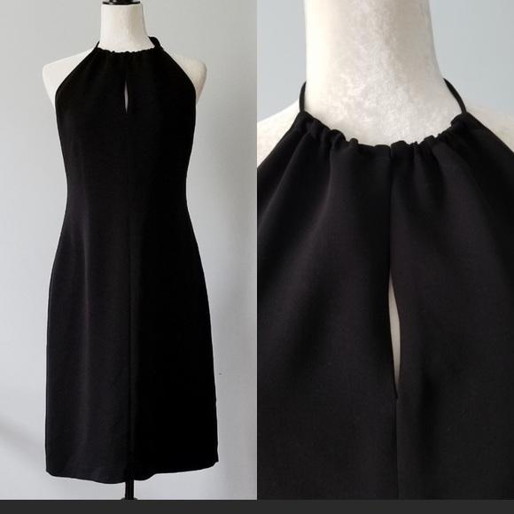 J. Crew Dresses & Skirts - J Crew black halter peekaboo dress